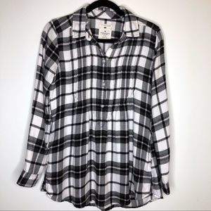 American Eagle Jegging Fit Plaid Top Flannel Shirt